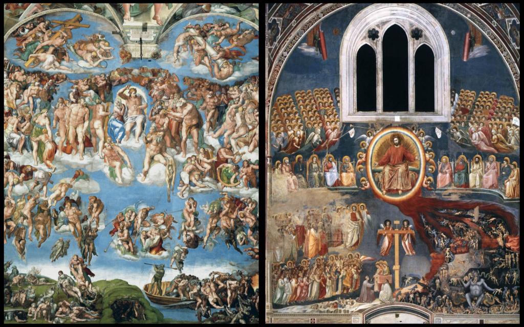 Микеланджело и Джотто: картины Страшного суда   Блог Катерины Нистратовой