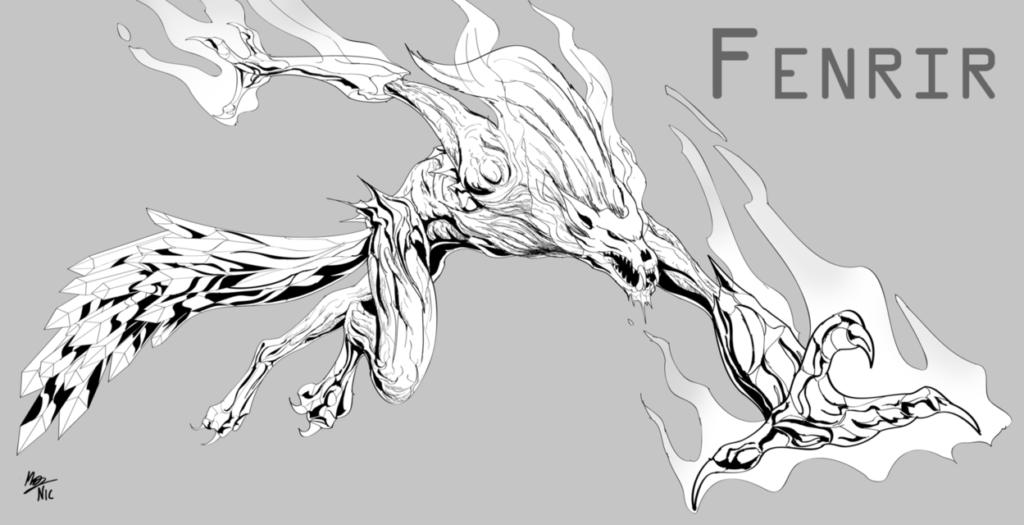 Фенрир волк, рисунок Nicolas | Блог Катерины Нистратовой о Рунах