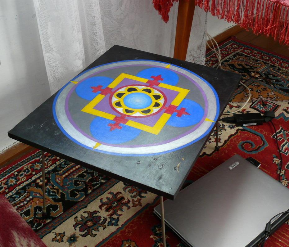 Столик для гаданий с мандалой Аджны | Блог Катерины Нистратовой о Рунах