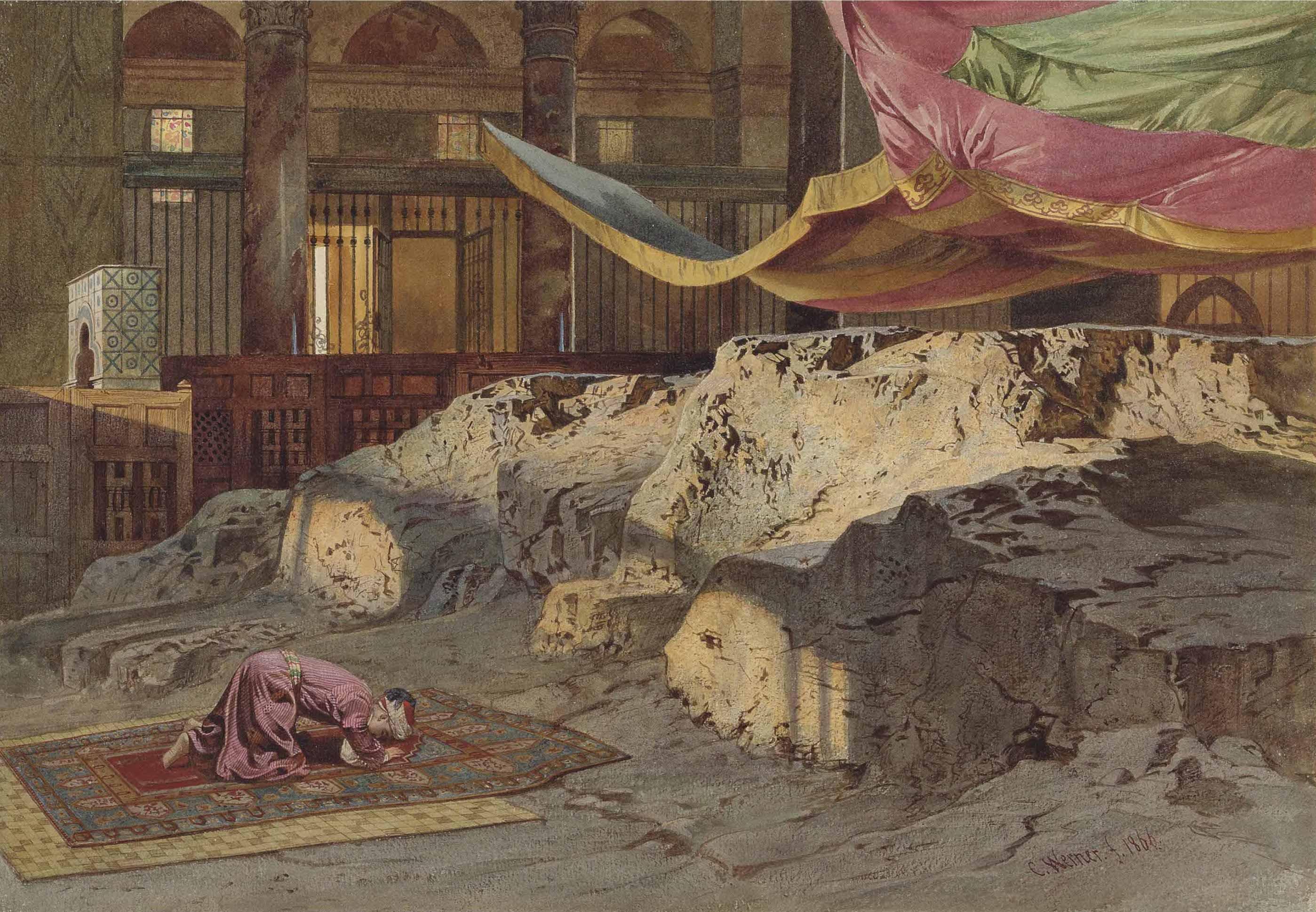 Carl Frederich Heinrich Werner (1808-1894) The Holy Rock, Jerusalem